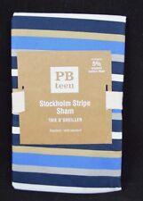 POTTERY BARN TEEN STOCKHOLM STRIPE SHAM BLUE STANDARD #87