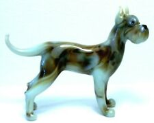 "HAND BLOWN ""MURANO"" GLASS COLLECTABLE  GREAT DANE DOG  FIGURINE"