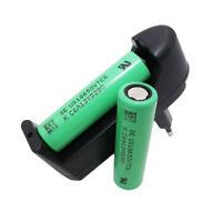 2X18650 VTC6 3000mAh 3.7V High Drain Li-ion Battery Rechargeable&Charger EU Plug