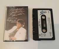 MICHAEL JACKSON THRILLER CASSETTE TAPE 1982 PAPER LABEL EPIC CBS UK