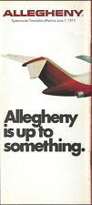 Allegheny Airlines system timetable 6/1/75 [6031] (Buy 3+ Save 25%)