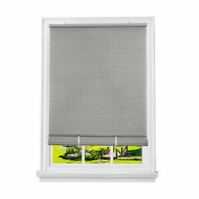 Gray Oval Cordless Rollup Light Filtering Window Blinds Shades