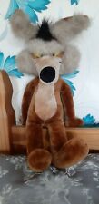 """Original Warner Brothers Wile E Coyote 24"""" Large 2 foot plush collectable 1989"""
