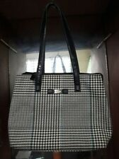 Plaid design RLL houndstooth tote bag