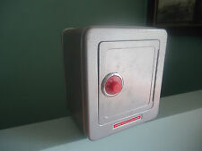 vintage alarm tin toy safe metal  money box large