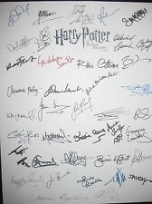 Harry Potter Deathly Hallows part 2 signed Script x39 Daniel Radcliffe Watson rp