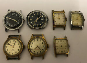 JOB LOT OF VINTAGE TIMEX WRIST WATCHES FOR REPAIR / SPARES