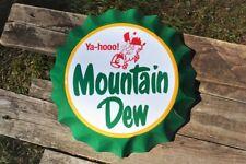 Mountain Dew Bottle Cap Tin Metal Sign - Hillbilly - Yahooo - Pepsi - Do the Dew
