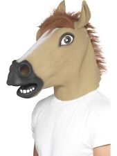 Horse Full Face Mask Mens Animal Fancy Dress Face Mask With Fur