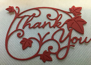 Thank You Sentiment die cuts x 7 (55 x 75 mm) 216 gsm cardstock