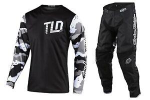 TROY LEE DESIGNS GP CAMO WHITE / BLACK GEAR SET 30724901/20724901