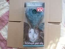 Michel Mercier detangling hair brush for thick hair types Blue