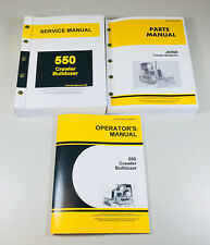 SERVICE PARTS OPERATORS MANUAL JOHN DEERE 550 550C CRAWLER BULLDOZER SHOP SET OH