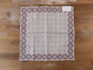 BRUNELLO CUCINELLI beige reversible polka dots silk cotton pocket square