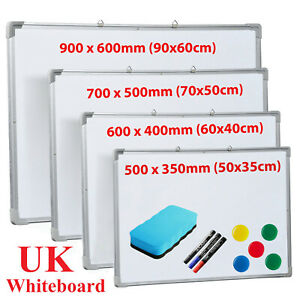 MAGNETIC WHITEBOARD LARGE SMALL WHITE BOARD DRY WIPE NOTICE OFFICE HOME SCHOOL