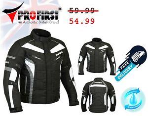 Mens Motorbike Cordura Racing Jacket Waterproof Motorcycle Armoured Jackets Size