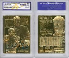BRETT FAVRE 1996 NFL Super Bowl XXXI 23KT Gold Card Sculpted Graded GEM MINT 10