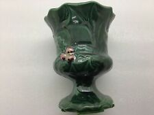 Vintage Lefton Green Holly Candle Stick Votive Holder Collectible Christmas