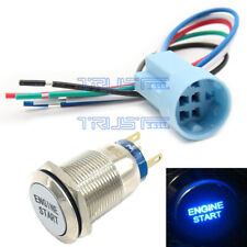 New 12V RED LED Momentary ENGINE START Metal Switch 19mm Push Button Lighted