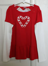 NEW Gymboree Size 9 Shirt COZY CUTIE Red Candy Canes Girls Holiday Christmas NWT