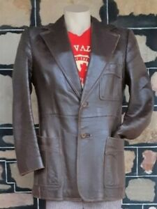 Leather Jacket, 1970's, Brown, Made in England by 'Simon Kessel', size L