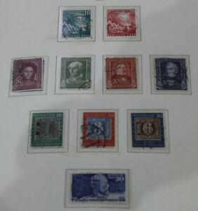 Bund - Sammlung 1949-1959 gestempelt komplett im Leuchtturm Vordruckalbum