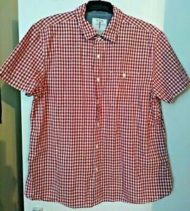 Jasper Conran Men's Premium Casual Range Red Check Short Sleeve Shirt