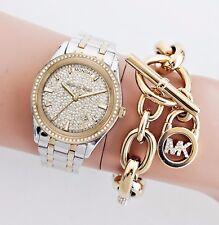Michael Kors Uhr Damenuhr MK6481 Kiley Bicolor  Farbe:Gold/Silber/Kristall NEU