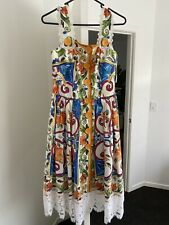 Authentic Dolce & Gabbana Majolica Print Cotton Dress Size IT 44 (size 10-12AU)