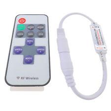 Mini 12V Controlador Interruptor remoto inalámbrico RF Dimmer en línea para Tira de Luz LED