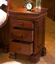 La Roque solid mahogany bedroom furniture bedside cabinet table