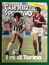 GUERIN SPORTIVO 1983 n 40 , I RE DI TORINO PLATINI HERNANDEZ + MaxiPoster GERETS