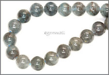 "16 Blue Green Kyanite Round Beads 13mm 7.8"" #70020"