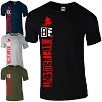 BE Different T-Shirt - MMA Training Gym Bodybuilding Motivational Gift Mens Top
