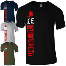 Camiseta ser diferente-MMA Entrenamiento Gimnasio Culturismo motivacionales Regalo para Hombre Top