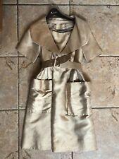 Vintage 1950's Silk Gold Couture Christian Dior Dress with original belt