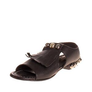 RRP€165 LE RUEMARCEL Leather Slingback Sandals EU 37 UK 4 US 7 HANDMADE in Italy