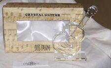 Oleg Cassini Crystal Guitar On Stand Nib