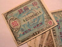 1946 Japan Allied Military Currency 10 Sen F-VF MPC Original Nippon Paper Money