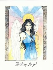 Jessica Galbreth Healing Angel Note Card Fairy Faery Feather Wings Get Well