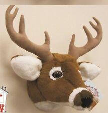 "11"" White Tailed Deer Head Plush Stuffed Animal Toy"