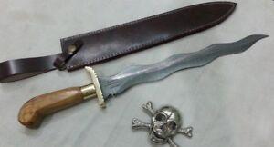 Custom Hand Made Moqen's Damascus steel KRIS knife