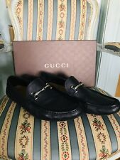 Gucci Black Leather Road Shoes Size 12