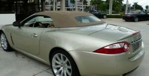 Jaguar XK/XKR 07-15 Replacement Convertible Soft Top Pebble Beige GERMAN HAARTZ