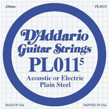 D'Addario PL0115 Plain Steel .0115 Gauge Guitar String