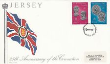 (42813) CLEARANCE GB Jersey FDC Coronation 25 years - 26 June 1978
