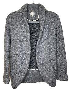 Aritzia Wilfred Wool Blend Coat Jacket Blazer Women Size 8 Grey Pockets