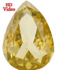 Natural Loose Diamond Pear SI1 Clarity Greenish Yellow Color 0.59 Ct L4922