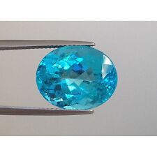 "Natural Unheated Apatite ""neon blue"" paraiba like color 11.97 carats"