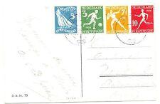 NETHERLANDS 1928 OLYMPICS PPC  # 214/215 , 216/217  TO SWITZERLAND  VF